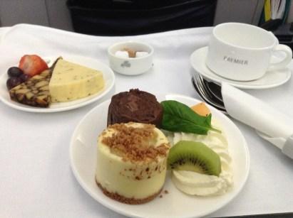 Aer Lingus Business Class dessert