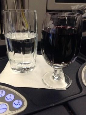 Aer Lingus Business Class wine