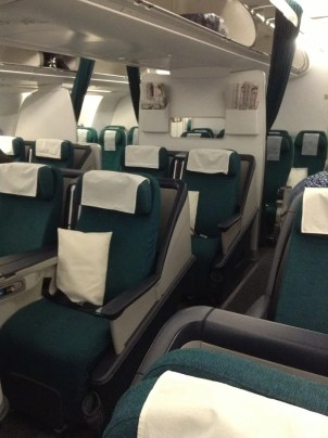 Aer Lingus Old Business Class product BOS-DUB