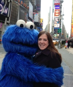 Cookie Monster and me in NYC Times Square