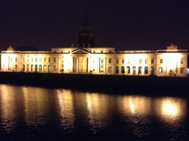 The Customs House in Dublin along the Liffey River