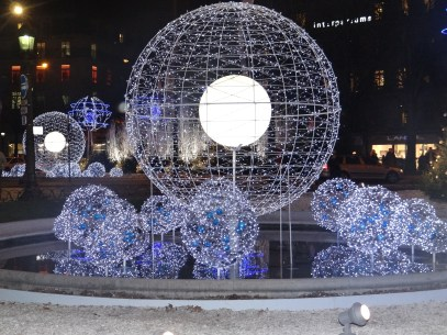 Christmas display at Champs-Elysees