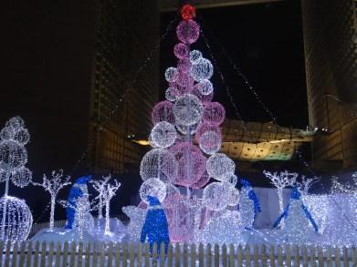 Paris La Defense Christmas display