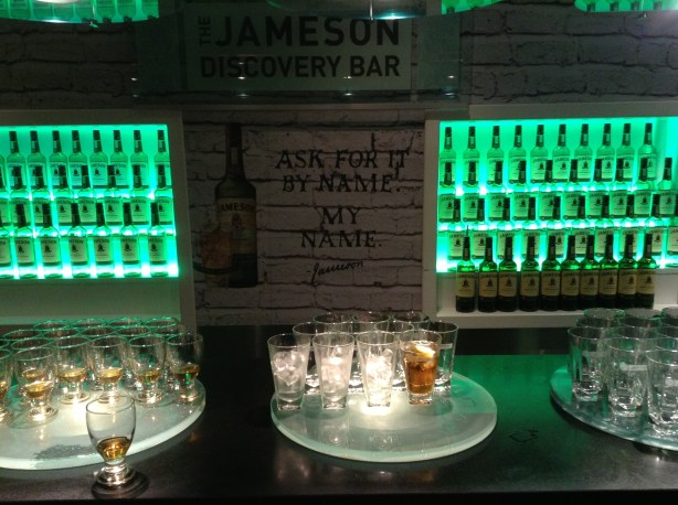 Jameson Discovery Bar - everyone gets a glass!