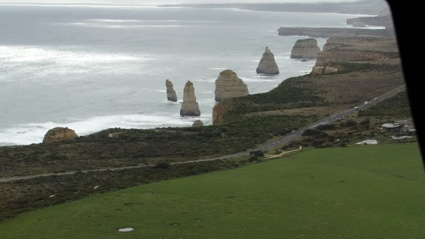 View from helicopter flight over Twelve Apostles