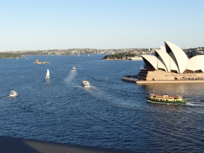View of Sydney Opera House from the Harbour bridge