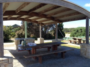 Picnic area along The Great Ocean Road
