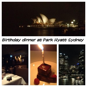 Indulgent dinner with a view for my birthday in Sydney