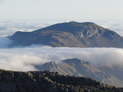 Table Mountain about the clouds - cloud photos South Africa
