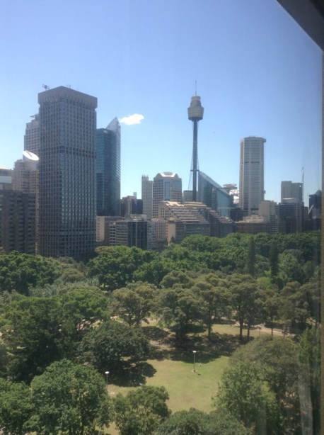 Sydney Hyde Park view from Pullman