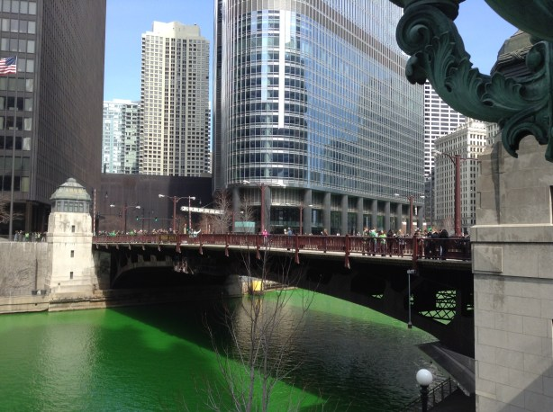 Chicago Green River and bridge