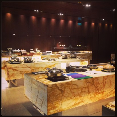 Singapore Airlines Changi buffet