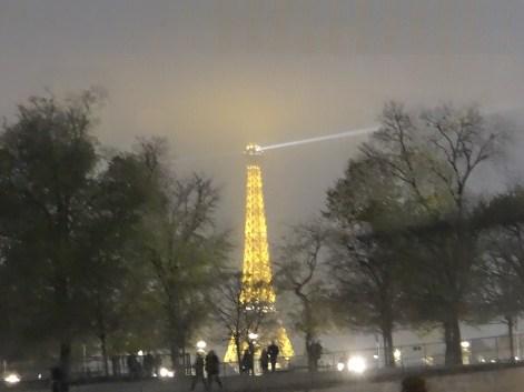 Eiffel Tower Illuminated at night Paris with Mom
