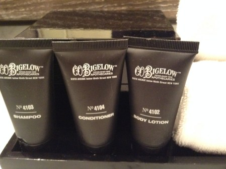 C.O.Bigelow toiletries at Hotel Palomar