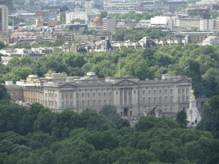 Buckingham Palace view from London Eye