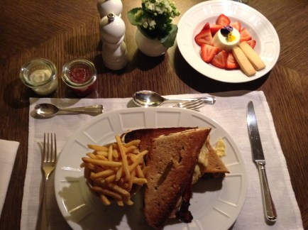 Rosewood London Room Service Club Sandwich is not airbnb for business travel