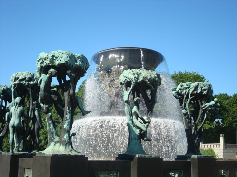 Fountain at Vigeland Sculpture Park