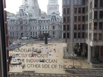 Philadelphia City Hall view from Le Meridien
