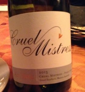 Australian Pinot Noir Cruel Mistress