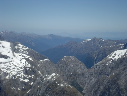 Fiordland National Park from above