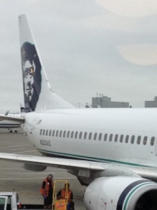 Alaska Airlines Plane at Seattle