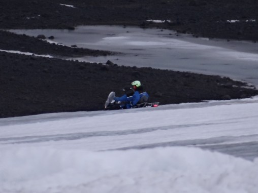 Snowmobiling on Langjokull Glacier Iceland Golden Circle