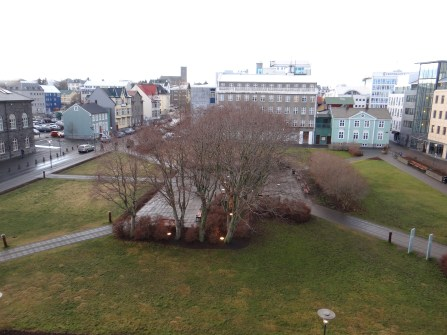 Hotel Borg view of Austurvollur Square