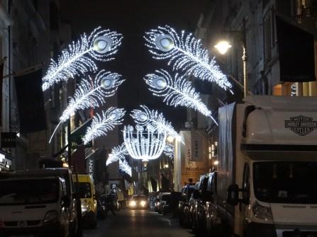 Bond Street London Christmas lights