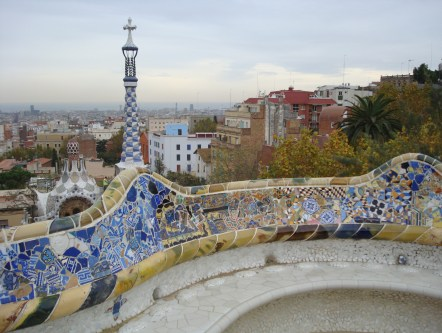 Park Guell Gaudi Barcelona - many repositioning cruises to/from Barcelona