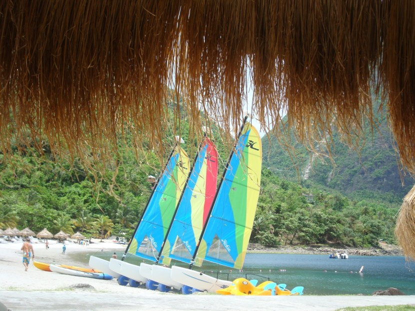 St. Lucia boat rental Sugar Beach