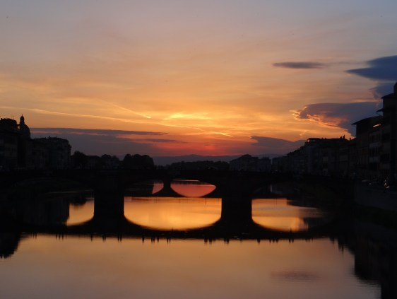 Sunset in Florence Arno River