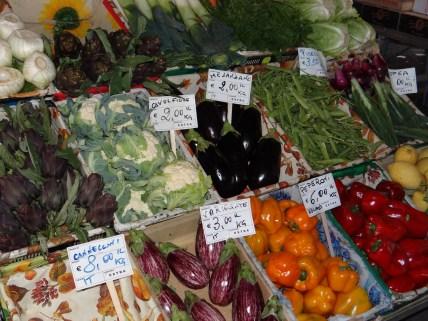 Florence market vegetables
