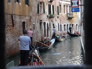 Venice Gondolas on Canal