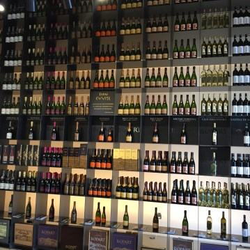 Llopart wall of wine and cava