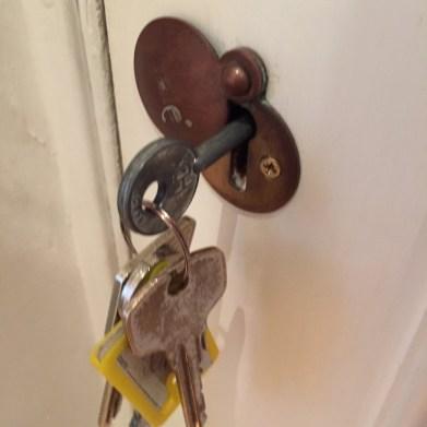 Basement flat London keys