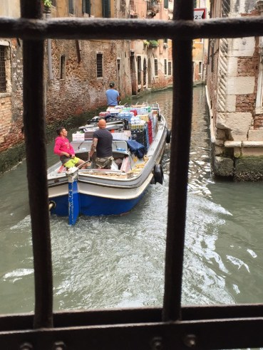 Venice delivery boat