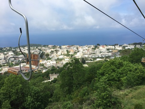 View of Anacapri from chair lift