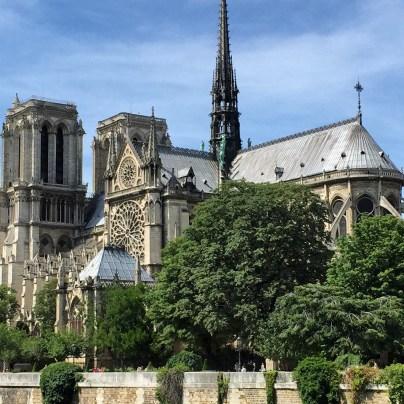 Notre Dame Paris with Mom