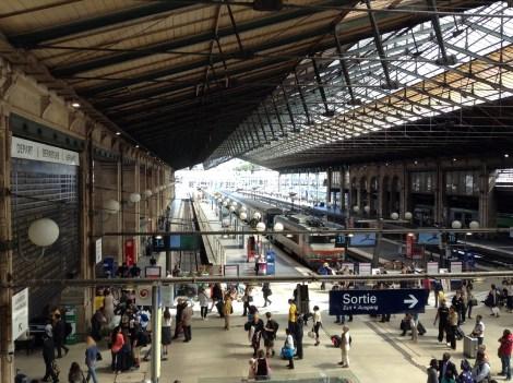 Eurostar Paris train station Gard du Nord