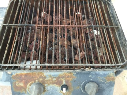 Rusted Grill dirty airbnb house gozo