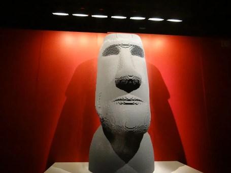 Easter Island Moai statue in lego