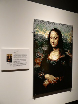 Mona Lisa in Legos The Art of the Brick