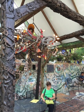 Outdoor gazebo at the Magic Gardens