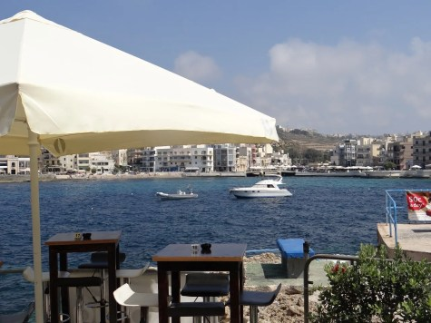 Dining with a view in Gozo
