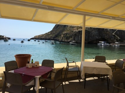 Dining with a view Gozo