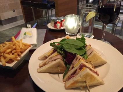 Club Sandwich Sofitel Heathrow Hotel food lobby bar