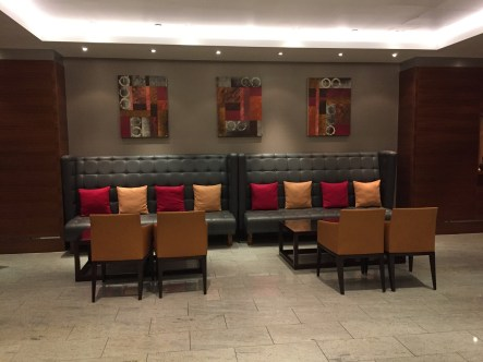 Sofitel Heathrow Hotel lobby seating