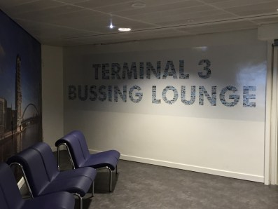 Connecting at Manchester Terminal 3 bussing lounge