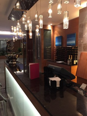 Spheres lobby bar Sofitel Heathrow Hotel