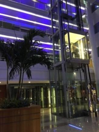 Sofitel Heathrow Hotel T5 glass elevator